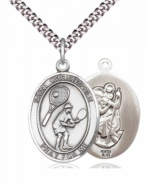 St. Christopher Tennis Medal - Pewter