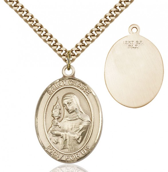 St. Clare of Assisi Medal - 14KT Gold Filled