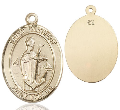 St. Clement Medal - 14K Yellow Gold
