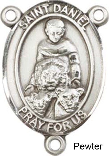 St. Daniel Rosary Centerpiece Sterling Silver or Pewter - Pewter