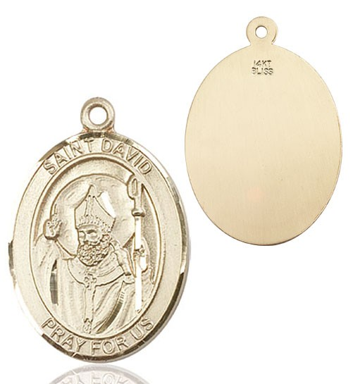 St. David of Wales Medal - 14K Yellow Gold