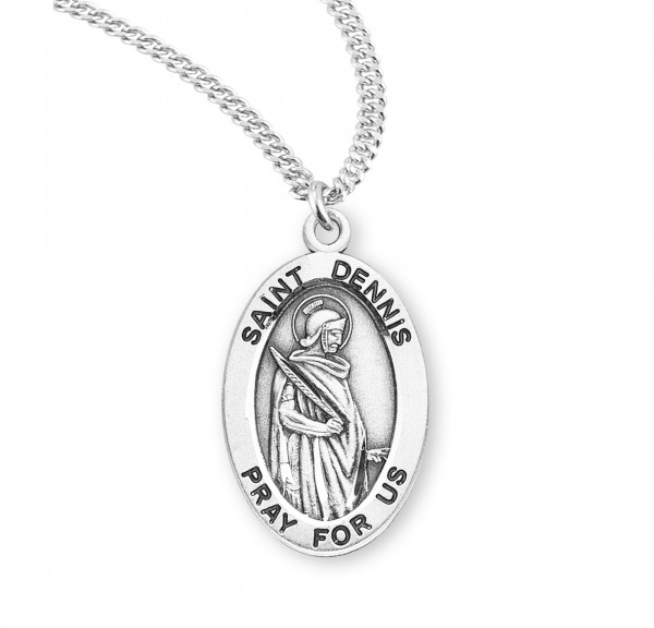Women's St. Dennis Oval Medal - Sterling Silver