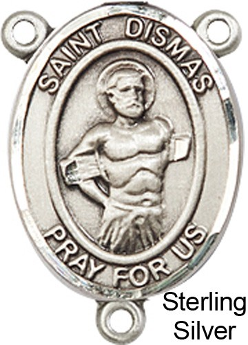 St. Dismas Rosary Centerpiece Sterling Silver or Pewter - Sterling Silver