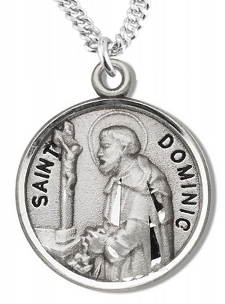 St. Dominic Medal - Sterling Silver