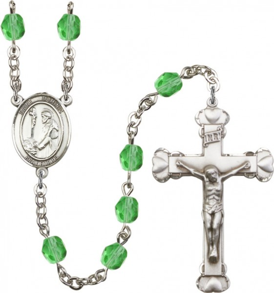 St. Dominic Rosary for Women 12 Birthstone Colors - Peridot
