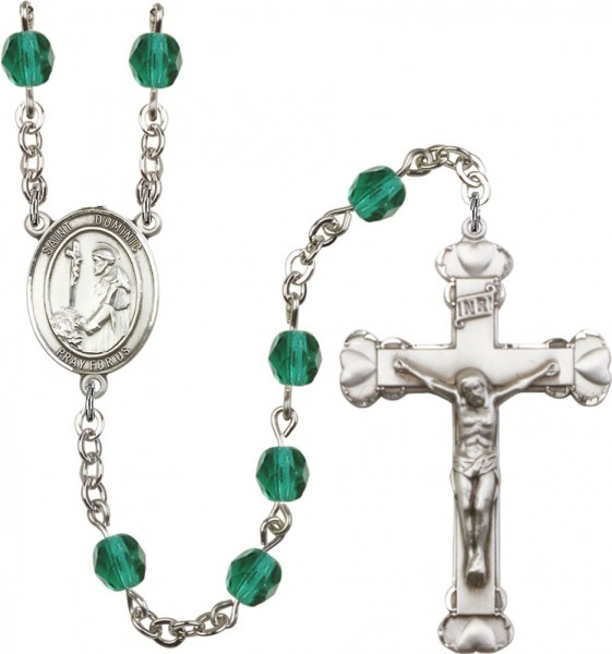 St. Dominic Rosary for Women 12 Birthstone Colors - Zircon