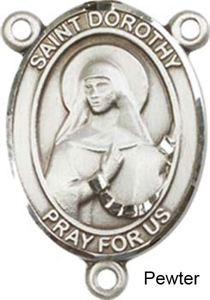 St. Dorothy Rosary Centerpiece Sterling Silver or Pewter - Pewter