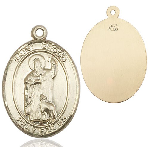St. Drogo Medal - 14K Yellow Gold