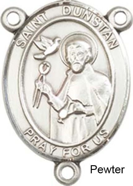 St. Dunstan Rosary Centerpiece Sterling Silver or Pewter - Pewter