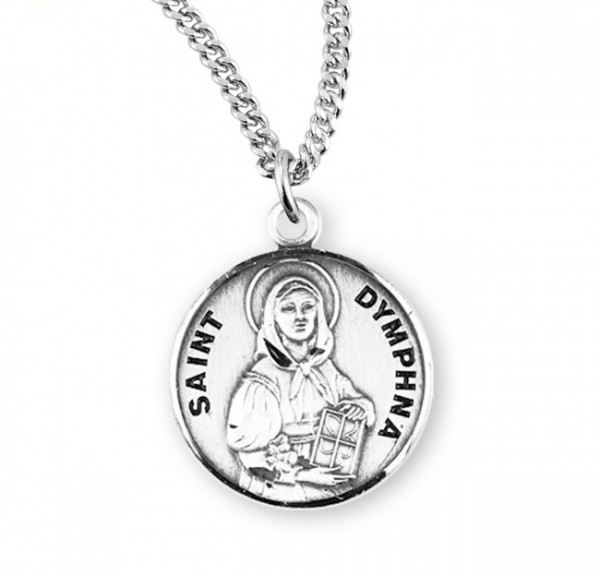 St. Dymphna Medal - Sterling Silver