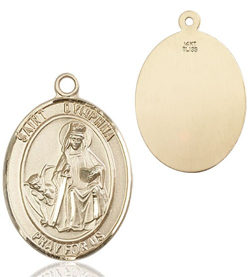 St. Dymphna Medal - 14K Solid Gold