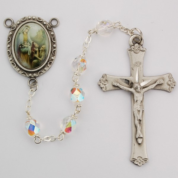 St. Elizabeth of the Visitation Crystal Rosary - Crystal