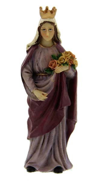 "St. Elizabeth of Hungary Statue 4"" - Purple"
