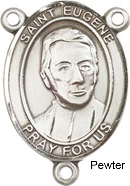 St. Eugene De Mazenod Rosary Centerpiece Sterling Silver or Pewter - Pewter