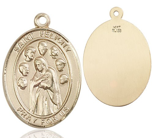 St. Felicity Medal - 14K Yellow Gold