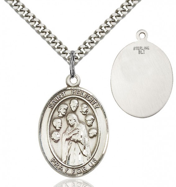 St. Felicity Medal - Sterling Silver