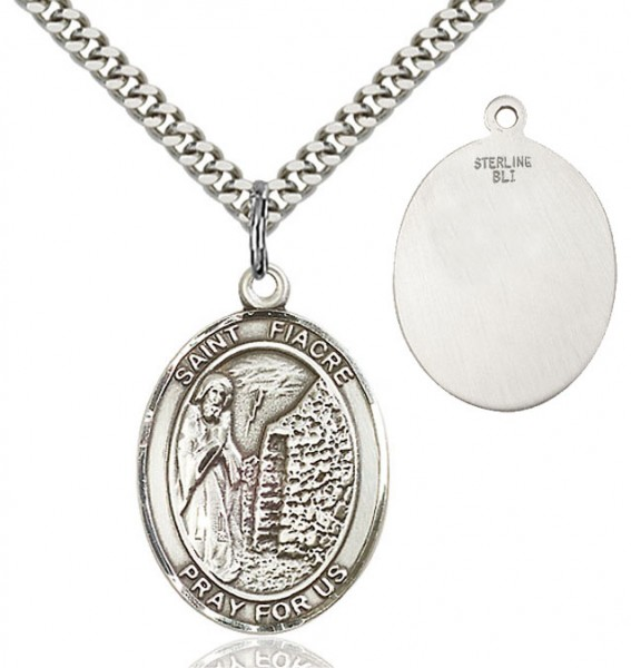 St. Fiacre Medal - Sterling Silver