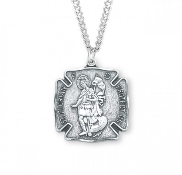 St. Florian Medal Sterling Silver, 2 Sizes Available - Sterling Silver