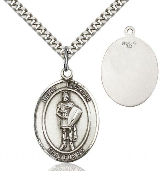 St. Florian Medal - Sterling Silver