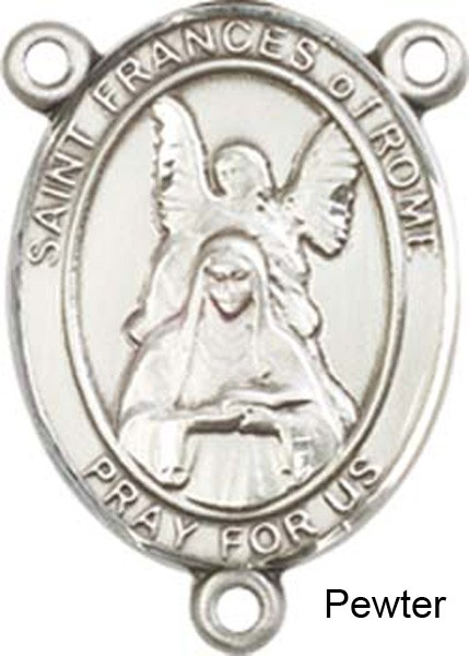 St. Frances of Rome Rosary Centerpiece Sterling Silver or Pewter - Pewter
