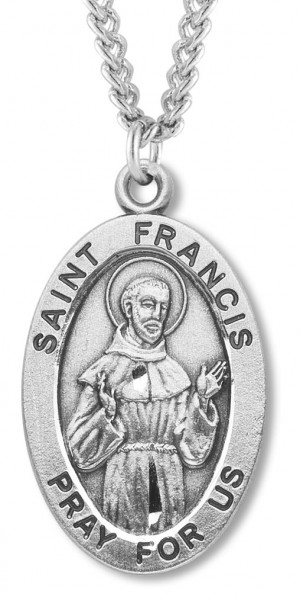 St. Francis Medal Sterling Silver - Silver