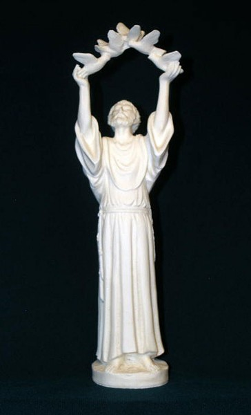 St. Francis Statue - 10 inches - White