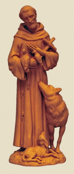St. Francis Statue - 6 inches - Natural Stone