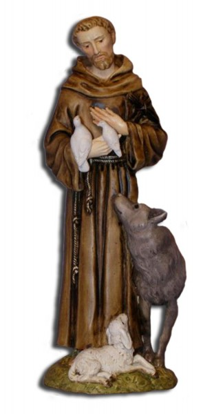 St. Francis Statue - 6 inches - Multi-Color