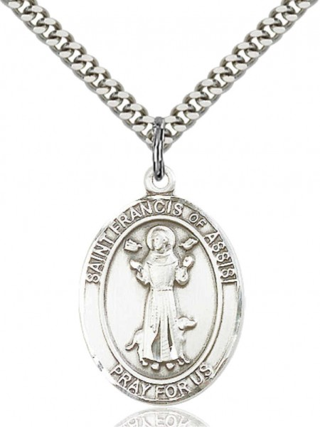 St. Francis of Assisi Medal - Pewter