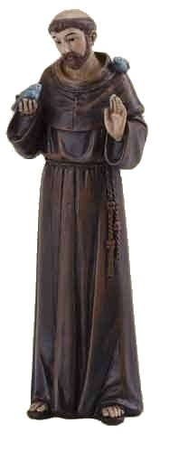 "St. Francis of Assisi Statue 4"" - Multi-Color Browns"