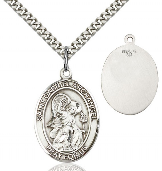 St. Gabriel the Archangel Medal - Sterling Silver