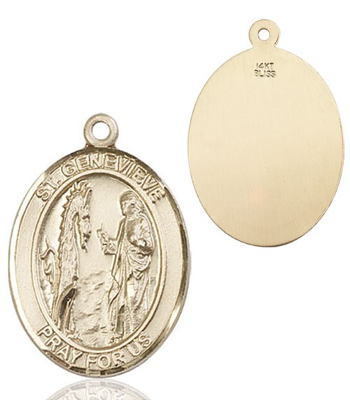 St. Genevieve Medal - 14K Yellow Gold