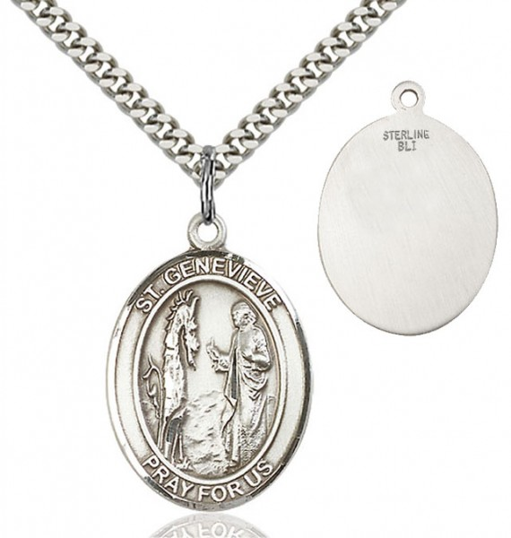 St. Genevieve Medal - Sterling Silver