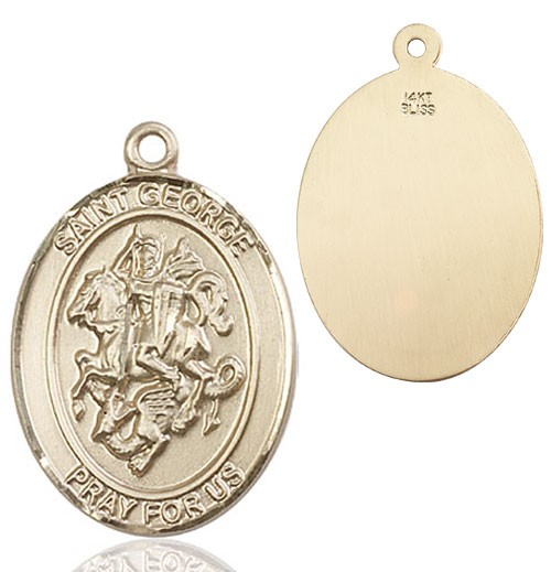St. George Medal - 14K Solid Gold