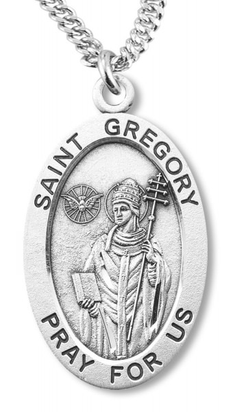 St. Gregory Medal Sterling Silver - Sterling Silver