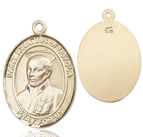St. Ignatius of Loyola Medal - 14K Yellow Gold