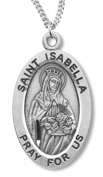 St. Isabella Medal Sterling Silver - Silver