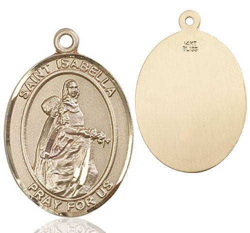 St. Isabella of Portugal Medal - 14K Yellow Gold