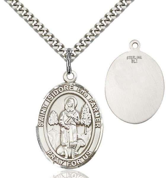 St. Isidore the Farmer Medal - Sterling Silver