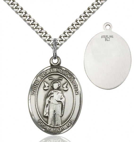 St. Ivo of Kermartin Medal - Sterling Silver