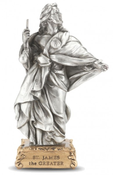 St. James the Greater Pewter Statue 4 Inch - Pewter