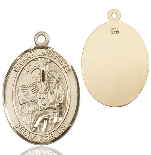 St. Jerome Medal - 14K Yellow Gold