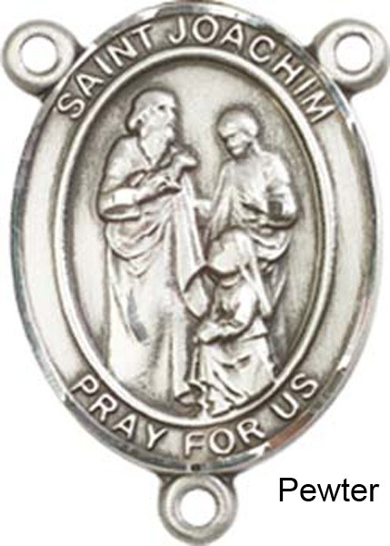 St. Joachim Rosary Centerpiece Sterling Silver or Pewter - Pewter