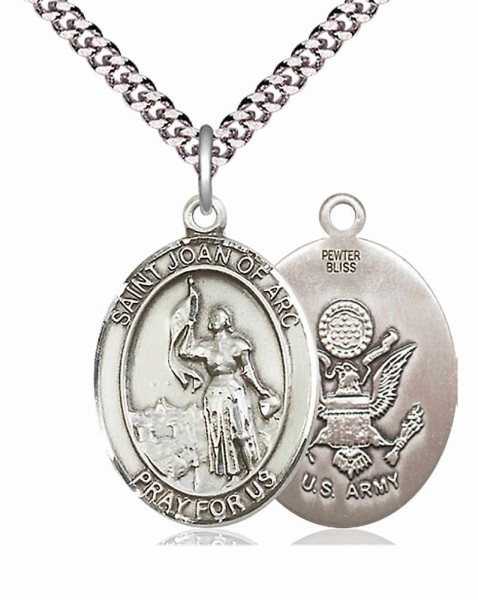 St. Joan of Arc Army Medal - Pewter