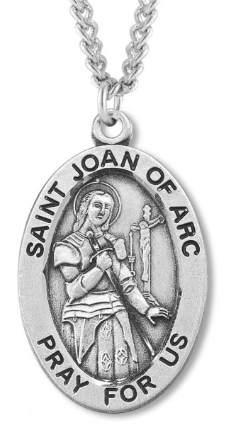 St. Joan of Arc Medal Sterling Silver - Silver