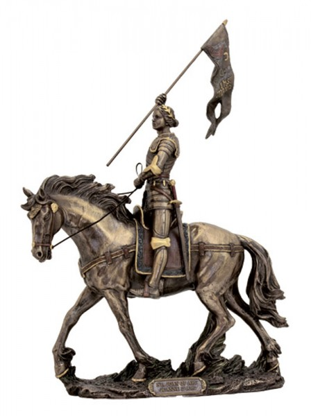 St. Joan of Arc Statue - 11 Inches - Bronze