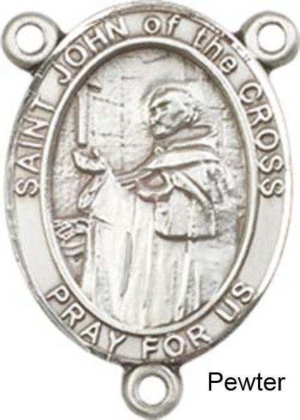 St. John of the Cross Rosary Centerpiece Sterling Silver or Pewter - Pewter