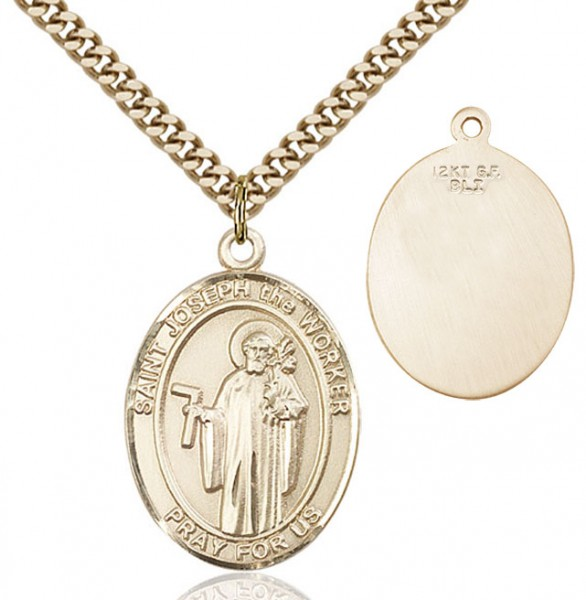 St. Joseph The Worker Medal - 14KT Gold Filled