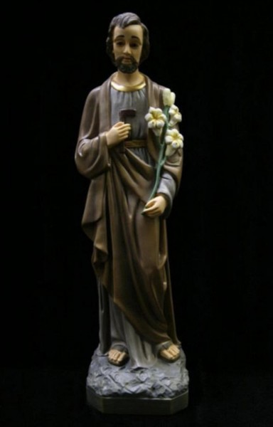 St. Joseph the Worker Statue, Hand Painted - 20 inch - Multi-Color