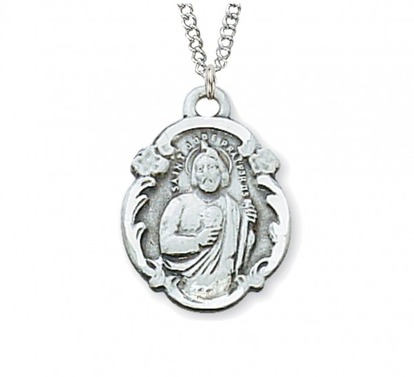 St. Jude Medal Sterling Silver - Silver